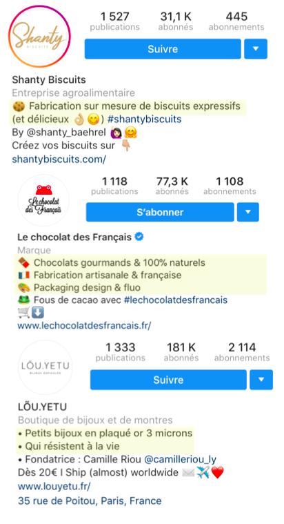 biographie instagram explique qui vous êtes ce que vous faîtes
