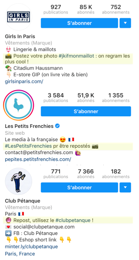 biographie instagram hashtags