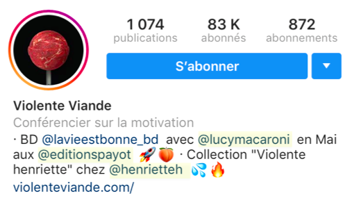 biographie instagram mention collaboration
