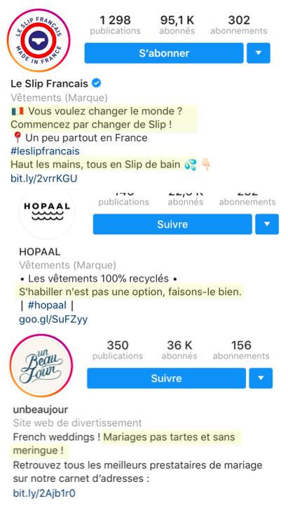 biographie instagram reflétant votre personnalité