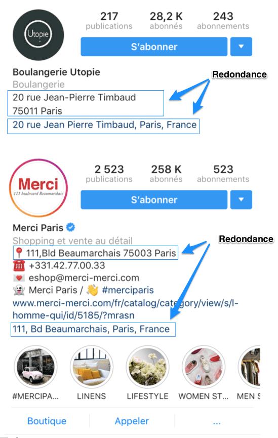 localisation de votre entreprise sur instagram