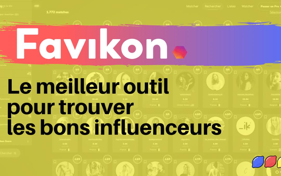 Comment trouver des influenceurs Instagram avec l'outil Favikon ?